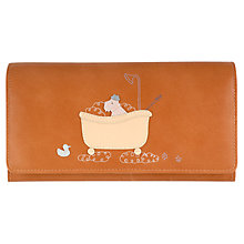 Buy Radley Bubble Trouble Large Leather Matinee Purse, Tan Online at johnlewis.com
