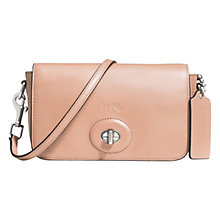Buy Coach Bleecker Penny Crossbody Leather Bag, Brindle Online at johnlewis.com