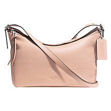 Buy Coach Bleecker Leather East/West Sullivan Shoulder Bag, Rose Petal Online at johnlewis.com