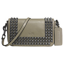 Buy Coach Bleecker Penny Crossbody Studded Leather Bag, Olive Grey Online at johnlewis.com