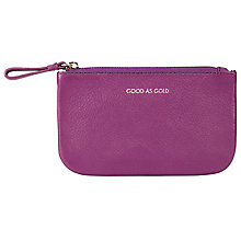 Buy COLLECTION by John Lewis Hayley 'Good As Gold' Slogan Leather Coin Purse, Purple Online at johnlewis.com