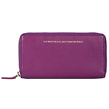 Buy COLLECTION by John Lewis Hayley 'For Pretty Frocks And Diamond Rocks' Slogan Leather Purse, Purple Online at johnlewis.com