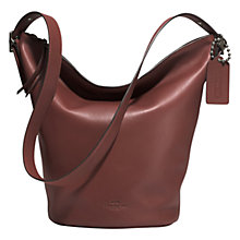 Buy Coach Bleecker Soft Port Duffle Leather Bag Online at johnlewis.com