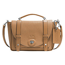 Buy Coach Bleecker Mini Leather Messenger Bag Online at johnlewis.com