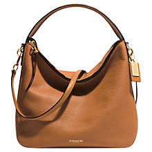 Buy Coach Bleecker Sullivan Pebbled Leather Hobo Bag, Burnt Camel Online at johnlewis.com