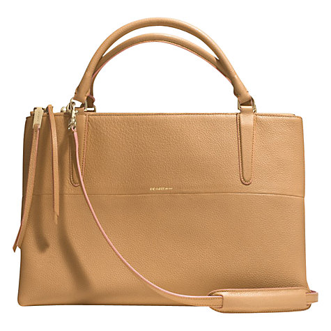 Buy Coach Borough Edgepaint Leather Carryall Tote Bag, Camel/Rose Online at johnlewis.com
