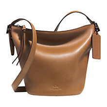 Buy Coach Bleecker Mini Duffle Leather Bag Online at johnlewis.com