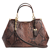 Buy Coach Madison Diamond Python Caroline Leather Shoulder Bag, Brick Online at johnlewis.com