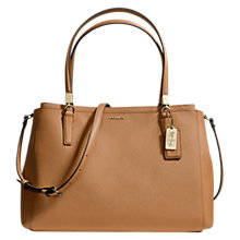 Buy Coach Madison Saffiano Leather Christie Bag, Brindle Online at johnlewis.com