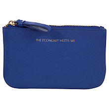 Buy COLLECTION by John Lewis Hayley 'The Economy Needs Me' Slogan Coin Purse, Blue Online at johnlewis.com