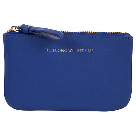 by John Lewis Hayley 'The Economy Needs Me' Slogan Coin Purse, Blue ...