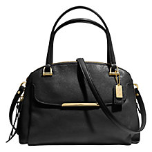 Buy Coach Madison Georgie Small Leather Satchel Bag, Black Online at johnlewis.com