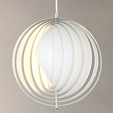 Buy Verpan Moon Pendant, White, Small Online at johnlewis.com