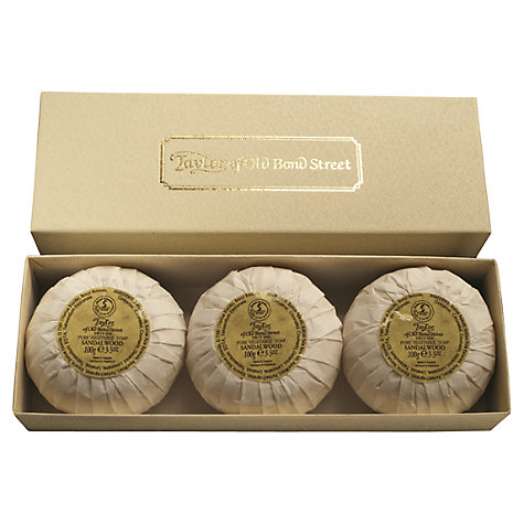 Buy Taylor of Old Bond Street Sandalwood Hand Soap, 3 x 100g Online at johnlewis.com