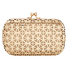 Buy Coast Calista Clutch Bag, Gold Online at johnlewis.com