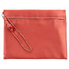 Buy Coast Zahara Clutch Bag, Coral Online at johnlewis.com