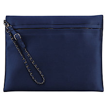 Buy Coast Zahara Pouch Clutch Bag, Navy Online at johnlewis.com