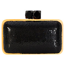 Buy Coast Woody Clutch Bag, Black Online at johnlewis.com