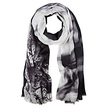 Buy Mint Velvet Lyla Print Scarf, Black / Ivory Online at johnlewis.com