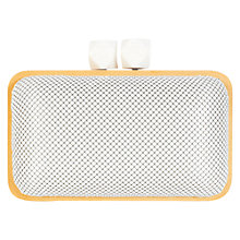 Buy Coast Woody Clutch Bag, White Online at johnlewis.com