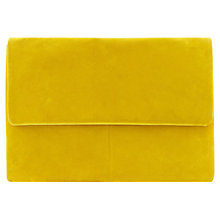 Buy Coast Layla Suede Clutch Bag, Yellow Online at johnlewis.com