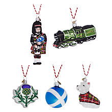 Buy Bombki Little Scotland Hanging Decoration Set Online at johnlewis.com