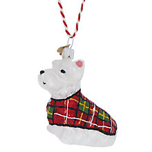 Buy Bombki Little Scottie Dog Hanging Decoration Online at johnlewis.com