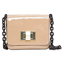 Buy Mango Patent Cross Body Bag, Light Pastel Brown Online at johnlewis.com