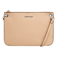 Buy Mango Pebbled Cross Body Bag, Light Beige Online at johnlewis.com