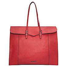 Buy Mango Pebbled Shopper Bag, Bright Red Online at johnlewis.com