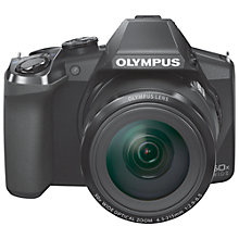 "Buy Olympus SP-100E Bridge Camera, HD 1080p, 16MP, 50x Optical Zoom, 3"" Screen with Memory Card Online at johnlewis.com"