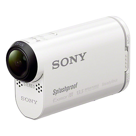 Buy Sony HDR-AS100VR Action Cam Camcorder, HD 1080p, 13.5MP, Wi-Fi, NFC, GPS with Waterproof Case and Live View Remote Online at johnlewis.com