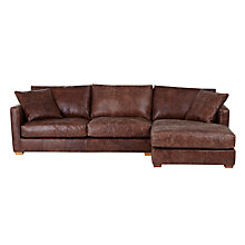 Buy John Lewis Baxter RHF Chaise End Sofa, Rialto Bruno Online at johnlewis.com
