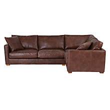 Buy John Lewis Baxter RHF Corner End Leather Sofa, Rialto Bruno Online at johnlewis.com