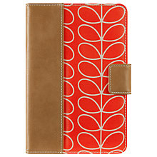 Buy Orla Kiely Linear Stem Case for iPad mini 1, 2 & 3, Orange Online at johnlewis.com