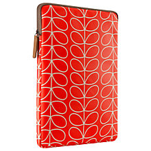 Buy Orla Kiely Linear Stem Sleeve for iPad Air, Orange Online at johnlewis.com