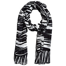 Buy Betty Barclay Abstract Stripe Print Scarf, Black/Cream Online at johnlewis.com