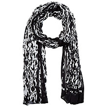 Buy Betty Barclay Dalmatian Print Scarf, Black/Cream Online at johnlewis.com