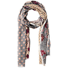 Buy Betty Barclay Flower & Spot Print Scarf, Rose/Beige Online at johnlewis.com