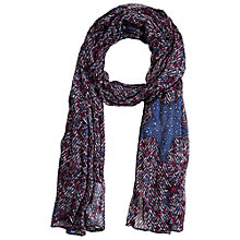 Buy Betty Barclay Star Print Scarf, Dark Red/Blue Online at johnlewis.com