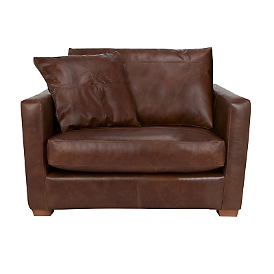 John Lewis Baxter Leather Snuggler, Antique Cigar