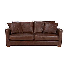 Buy John Lewis Baxter Large Leather Sofa, Antique Cigar Online at johnlewis.com