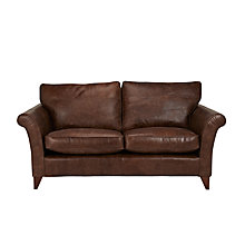 Buy John Lewis Charlotte Leather Large Sofa, Rialto Bruno Online at johnlewis.com