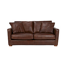 Buy John Lewis Baxter Medium Leather Sofa, Antique Cigar Online at johnlewis.com