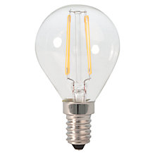 Buy Calex 3W SES LED Filament Golf Bulb, Clear Online at johnlewis.com