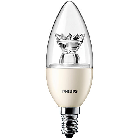 Buy Philips 6W SES LED Candle Bulb, Clear Online at johnlewis.com
