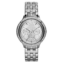 Buy Armani Exchange AX5401 Women's Stainless Steel Capistrano Watch, Silver Online at johnlewis.com