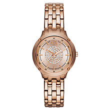Buy Armani Exchange AX5416 Women's Capistrano Stainless Steel Watch, Rose Gold Online at johnlewis.com