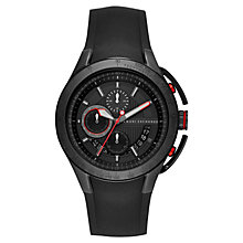 Buy Armani Exchange AX1401 Men's Silicone Chronograph Watch, Black Online at johnlewis.com