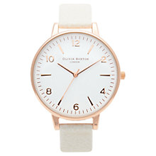 Buy Olivia Burton Women's White Dial Leather Strap Watch, Mink / Rose Gold Online at johnlewis.com